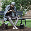 "Saturday, August 22nd. Saw this statue on the grounds of Ursinus College in Collegeville, PA that was titled ""Learning to crochet"" - but when I saw her - I thought of ""Eleanor Rigby"", for some reason."